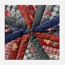 Amish Patchwork Quilt Tile Coaster