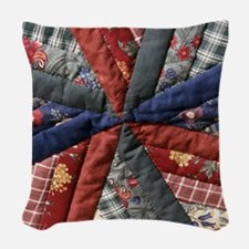 Amish Patchwork Quilt Woven Throw Pillow