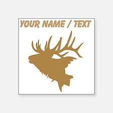 Custom Brown Elk Head Sticker
