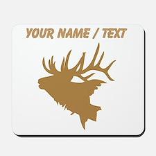 Custom Brown Elk Head Mousepad