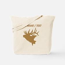 Custom Brown Elk Head Tote Bag