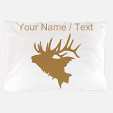 Custom Brown Elk Head Pillow Case