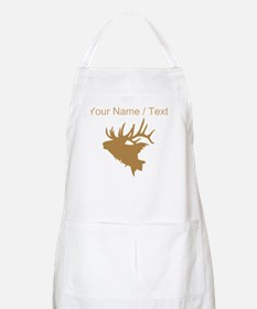 Custom Brown Elk Head Apron
