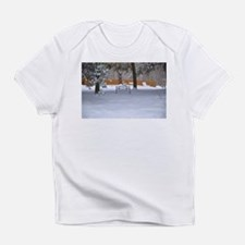 Garden bench with snow Infant T-Shirt