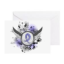 Grunge Ribbon Wings Addisons Greeting Card
