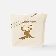 Custom Brown 12 Point Buck Tote Bag