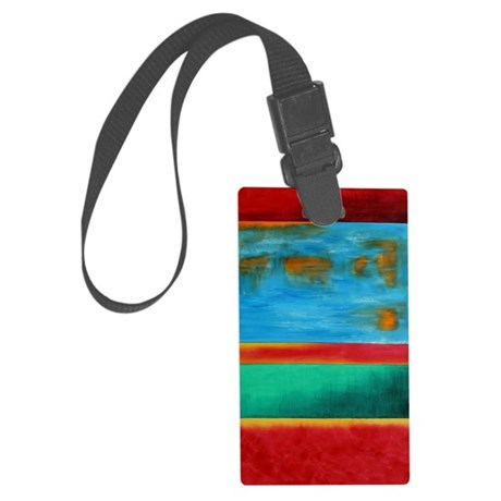 ROTHKO IN RED BLUE GREEN 2 Large Luggage Tag