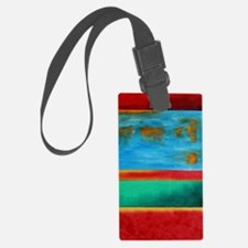 ROTHKO IN RED BLUE GREEN 2 Luggage Tag