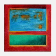 ROTHKO IN RED BLUE GREEN 2 Tile Coaster