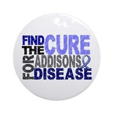 Find the Cure Addison's Ornament (Round)