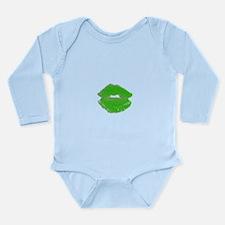 Kiss Me Im Irish Green Pucker Lips 23 Body Suit