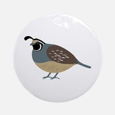 Valley Quail Ornament (Round)