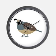 Valley Quail Wall Clock