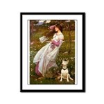 Windflowers Bull Terrier Framed Panel Print