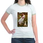 Windflowers Bull Terrier Jr. Ringer T-Shirt