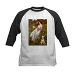 Windflowers Bull Terrier Kids Baseball Jersey