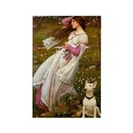 Windflowers Bull Terrier Rectangle Magnet