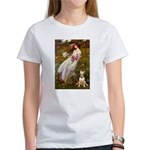 Windflowers Bull Terrier Women's T-Shirt