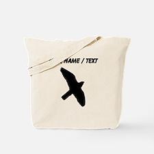 Custom Peregrine Falcon Silhouette Tote Bag