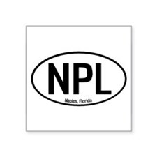Naples, Florida Oval Sticker
