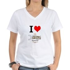 I Love Nyc Honey Women'S V-Neck T-Shirt