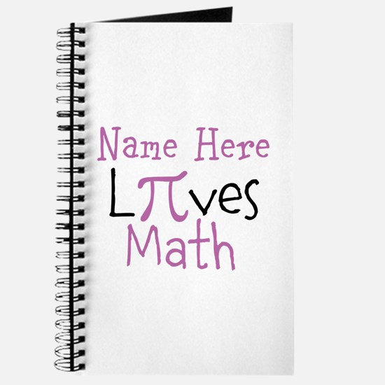 Pi PERSONALIZED Loves Math Journal