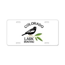 COLORADO LARK BUNTING Aluminum License Plate