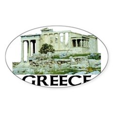 Greece (Acropolis) Oval Decal