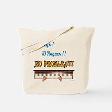 88 Key 10 Fingers Tote Bag