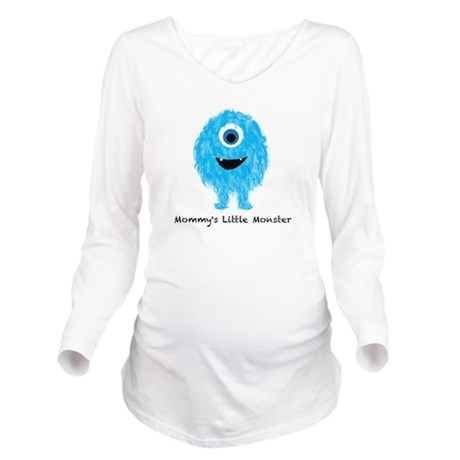 Mommys Monster Blue Long Sleeve Maternity T-Shirt
