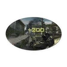 Fragged by RPG Oval Car Magnet
