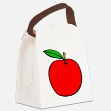 Red Apple Canvas Lunch Bag