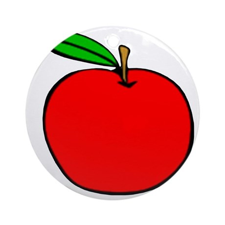Red Apple Round Ornament