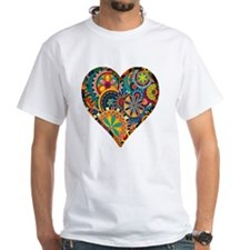 Colorful Floral Heart Shirt