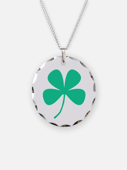 Green Irish Pride Shamrock Necklace