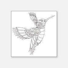 "Steampunk Hummingbird Outli Square Sticker 3"" x 3"""