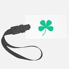 Green Irish Pride Shamrock Rocker Luggage Tag