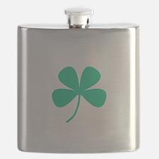 Green Irish Pride Shamrock Rocker Flask