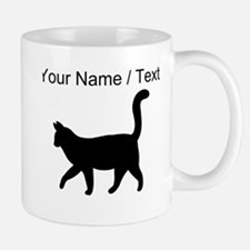 Custom Housecat Silhouette Mugs