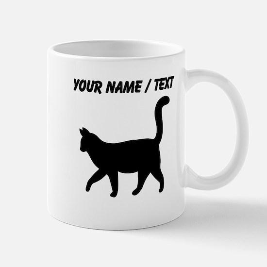 Custom Housecat Silhouette Mugs
