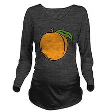 Peach Long Sleeve Maternity T-Shirt