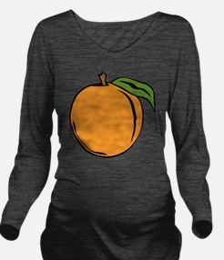 Peach Long Sleeve Maternity T-Shirt