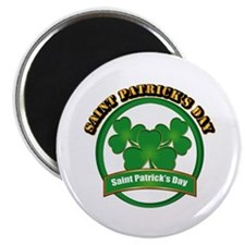 """Saint Patrick's Day with t 2.25"""" Magnet (100 pack)"""