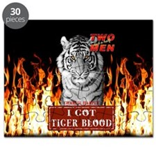 Two Half Men I got Tiger Blood Flames Shower Curt
