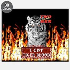 Two Half Men I got Tiger Blood Flames Shower Curt