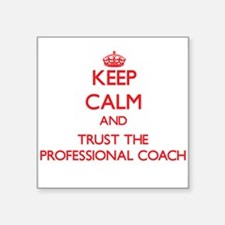 Keep Calm and Trust the Professional Coach Sticker