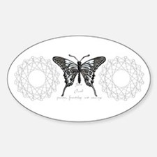 June Birthstone Butterfly Oval Decal