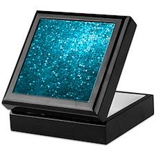 Blue Glitter Keepsake Box