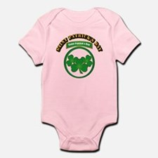 Saint Patrick's Day with text Infant Bodysuit