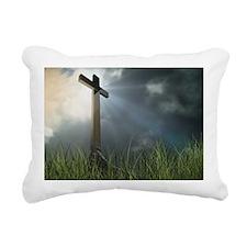 Cross In Field Rectangular Canvas Pillow